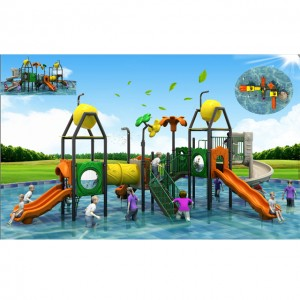 2019 Latest design Plastic water playground ,water house slide for kids