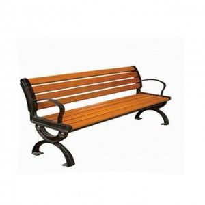 Outdoor Furniture Garden durable Bench, waterproof and Wear Cast Iron Frame Design wpc outdoor park bench,hot sale waiting bench
