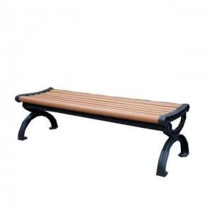 Cast Iron Leg,garden bench park/Backless Park Bench Commercial Seating Benches