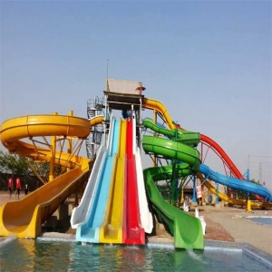 aqua park equipment waterslide fiberglass Large water slides for sale