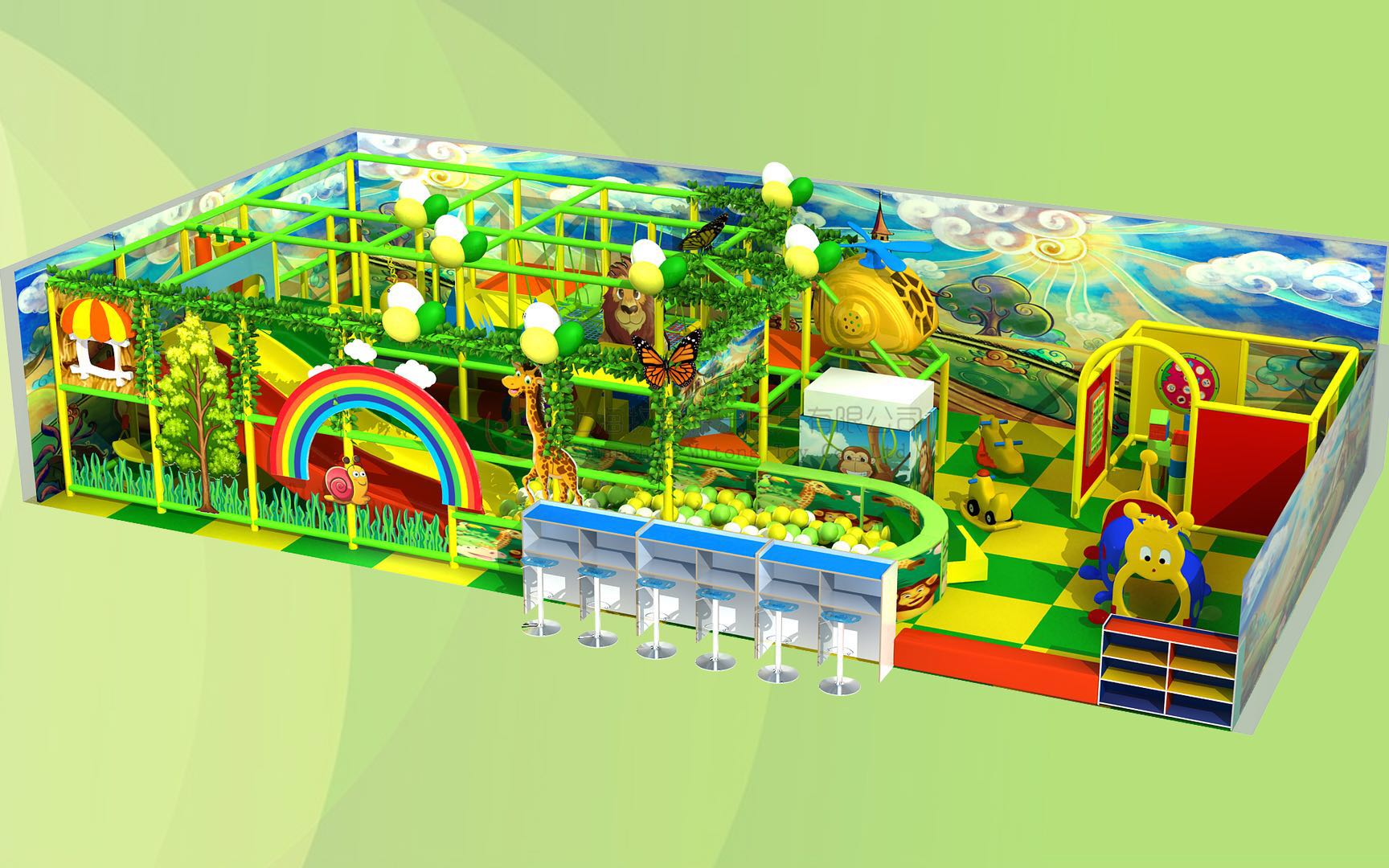 Plastic indoor playground equipment prices, kids' toys indoor playground Featured Image