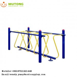 Popular outdoor fitness playground balance wave bridge training fitness equipment