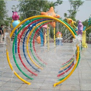 Splash Pad Park Water Spray Mga Loop para sa Kids