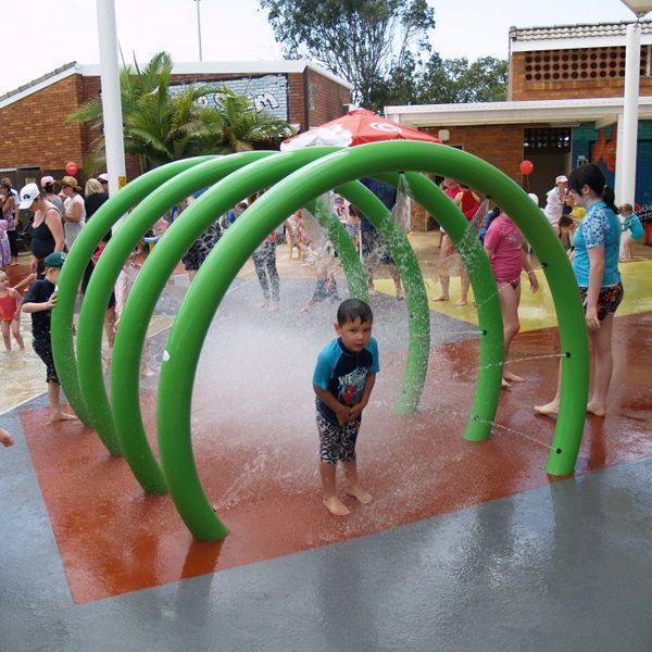 Splash Pad Park Water Spray Loops bo Wêne Kids Taybete