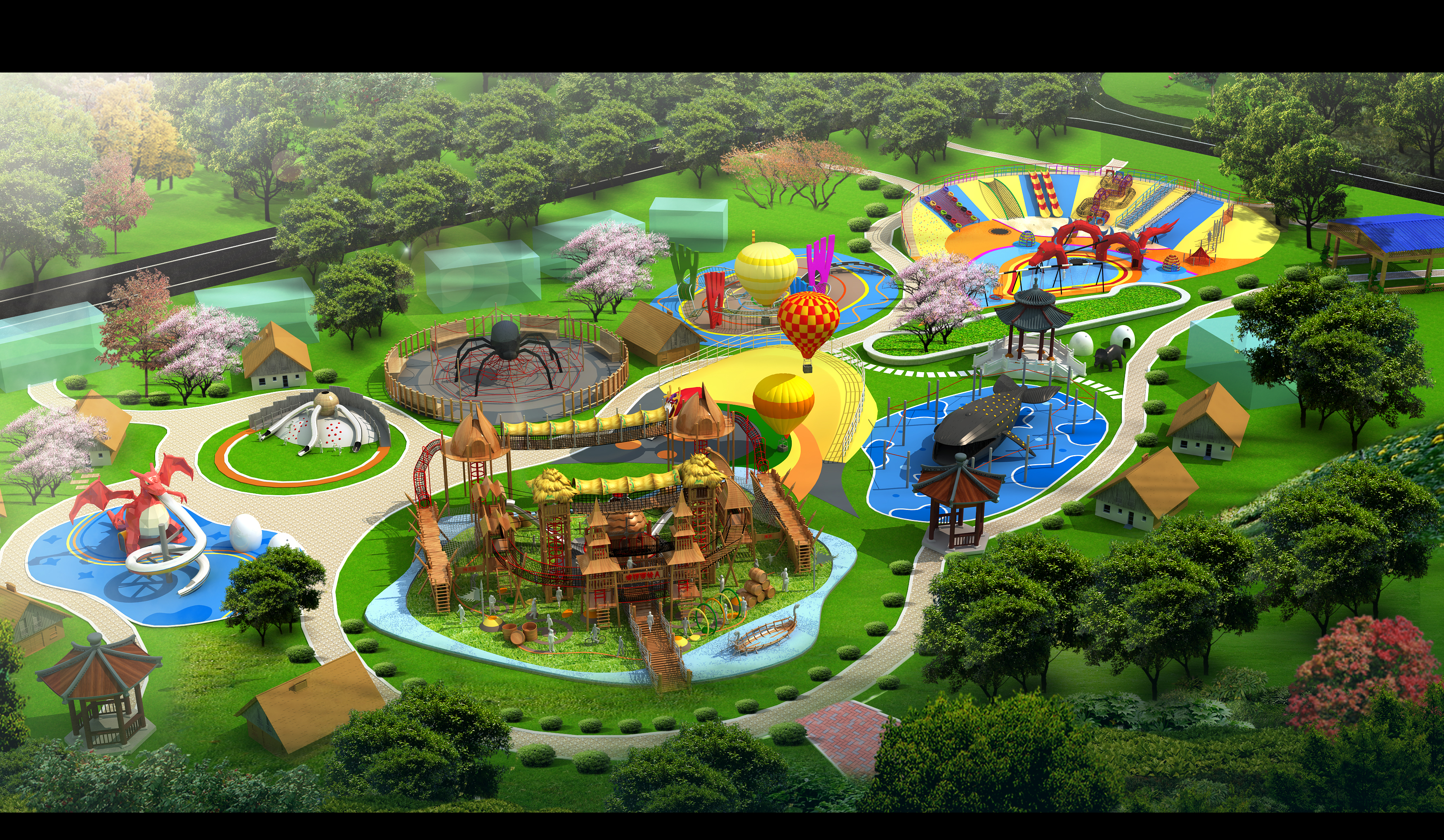 New amusement park design for yingshang, Anhui province