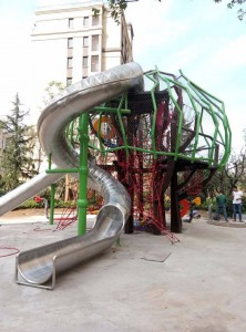 Stainless steel playground slide