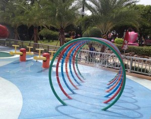 Kids Splash Park Equipment Colorful Water Play Equipment for Hotel