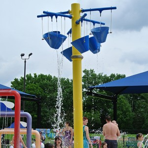 Kids Summer Spray Park Cone Spill Buckets Of Water Play Features
