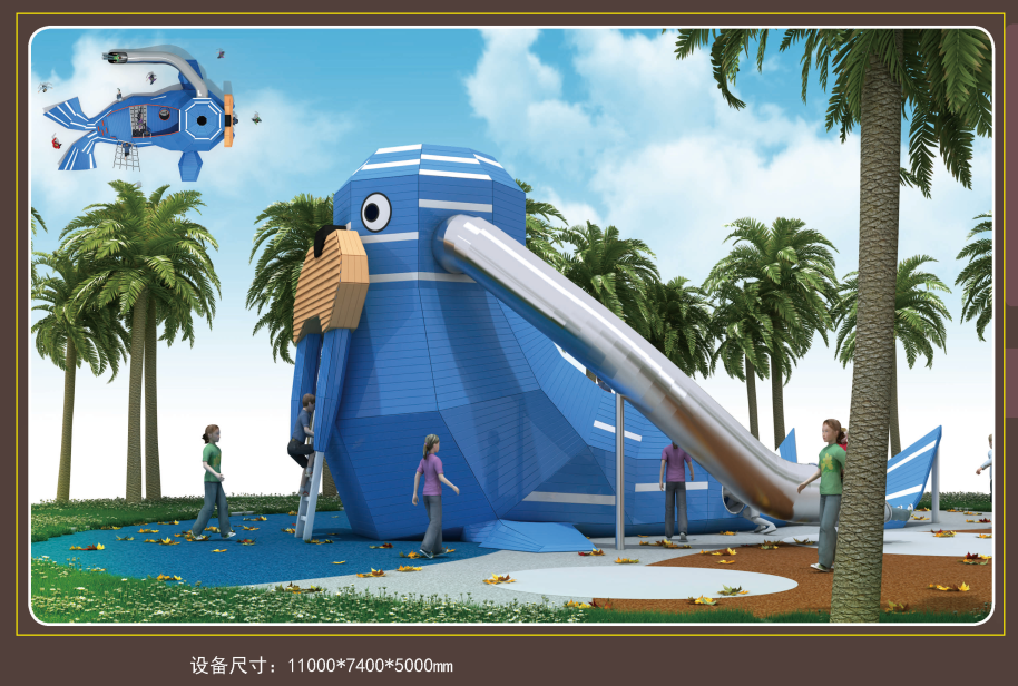 Customized outdoor playground or indoor playground kids stainless tube steel slide Featured Image