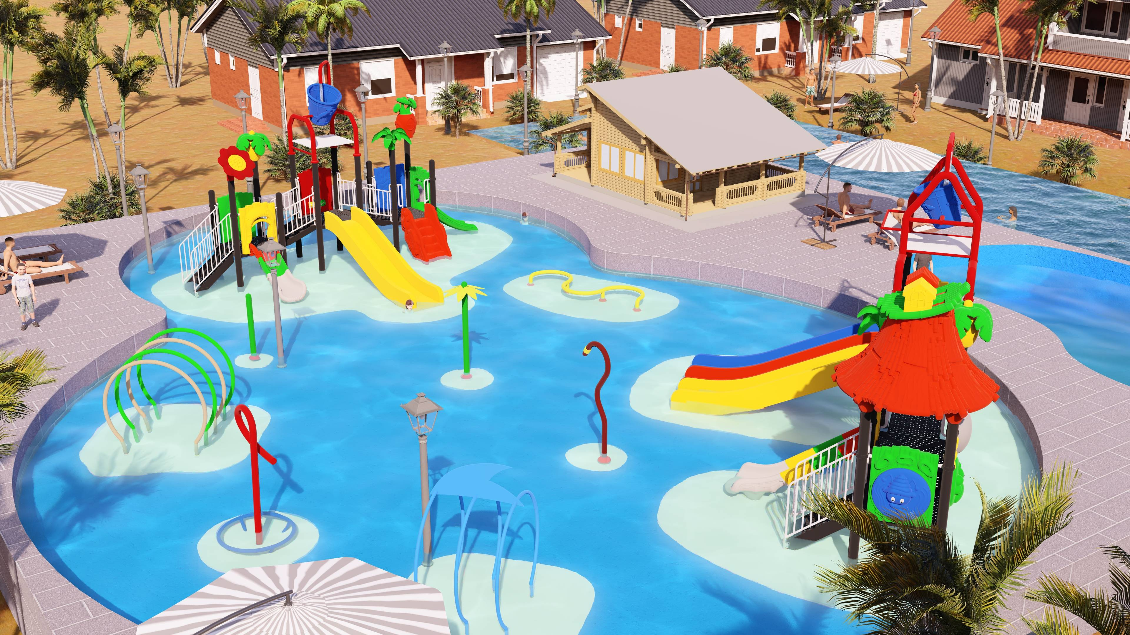 kids pool spray water splashing zone