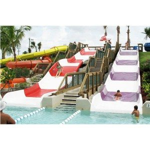 Fiberglass Outdoor Family Water Park Equipment Water Slide