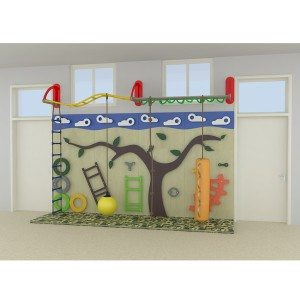 Children Indoor Amusement Area Climbing Wall Game