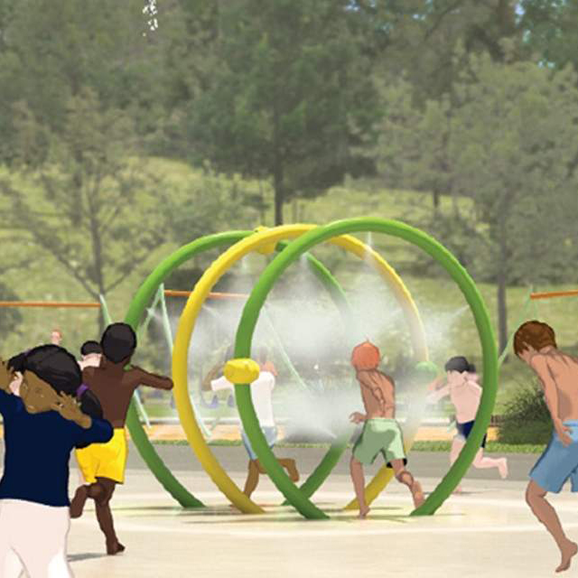 water Splash pad aquatic play equipment for water park pool Featured Image