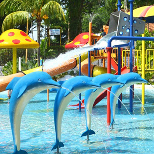 Kids outdoor water park toys dolphin aqua play for aqua park Featured Image