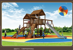 Commercial Large Theme Kids Combination Outdoor Wooden Playground Equipment For Sale