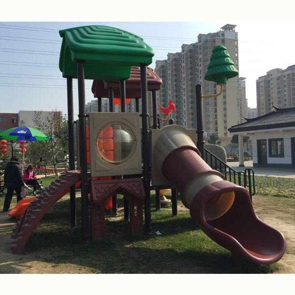 Reasonable price for Children Amusement Equipment Outdoor Playground Plastic Slide Export to Denmark detail pictures