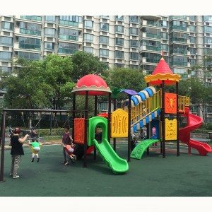 OEM manufacturer custom Kids Play Area Used Playground Games Outdoor Playground Plastic Playhouse Supply to UK