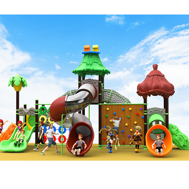 kids outdoor playground equipment plastic slide for sale Featured Image