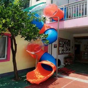 New design LLDPE engineering plastic spiral kids and adults escape slide