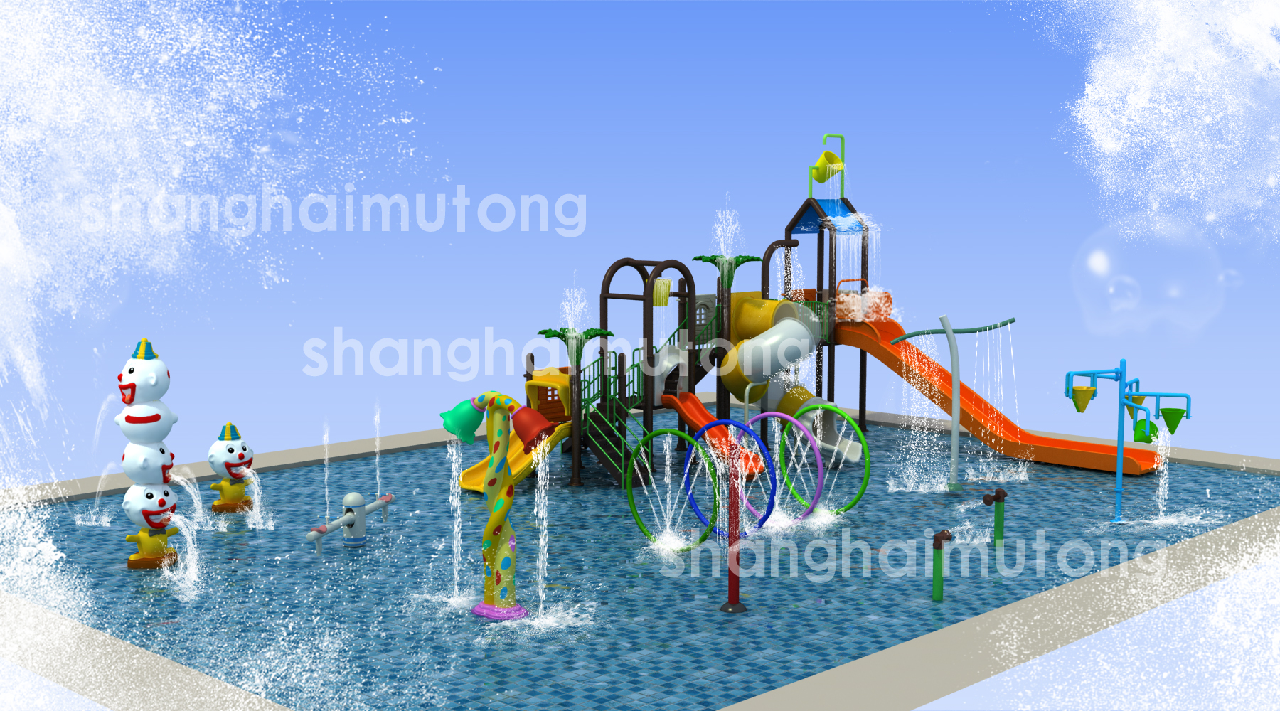 We design, engineer, manufacture and install the key attractions to any water park, specializing in water slides and Aquatic Play Units.