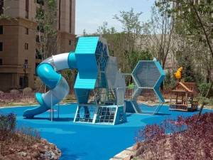 Project address:RED STAR MACALLINE outdoor playground area