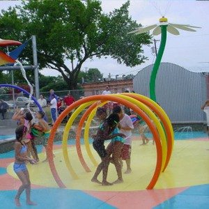 Splash Pad Park Water Kayak Loops for Kids