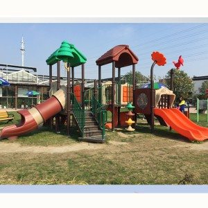 8 Years Manufacturer Children Amusement Equipment Outdoor Playground Plastic Slide for Macedonia Factories