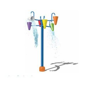 Water Park Equipment Interactive Triple Dumping Buckets