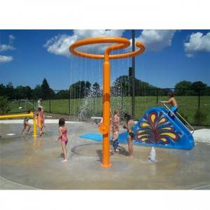 interactive water park ground sprays