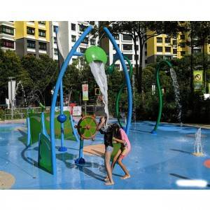 Interactive water park playgrounds with Splash Pads