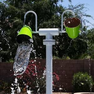 new water feature large dump bucket water tunnel