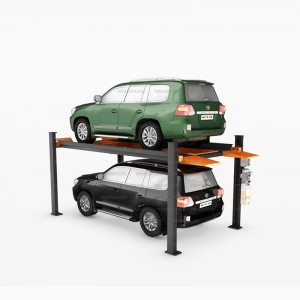 Online Exporter China Double Level 4 Post Hydraulic Garage Car Parking System Lift