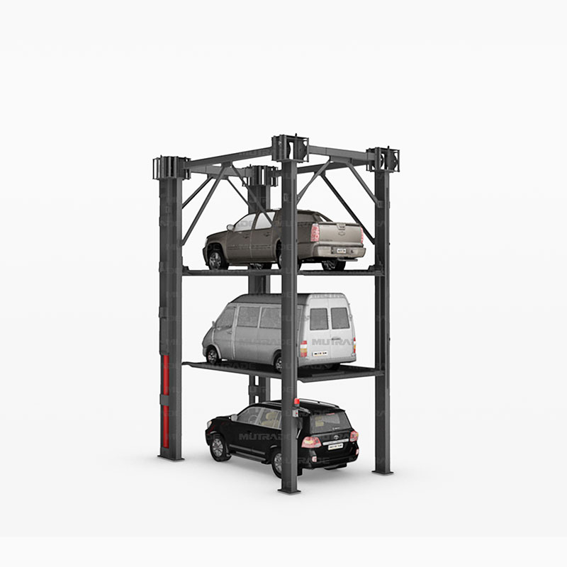 Hydro-Park 3130 : Heavy Duty Four Post Triple Stacker Car Storage Systems Featured Image