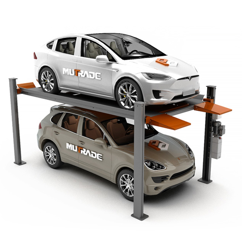Hydro-Park 2236 & 2336 : Portable Ramp Four Post Hydraulic Car Parking Lifter Featured Image