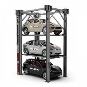 Hydro-Park 3130: Heavy Duty Four Post Triple Stacker Car Storage System
