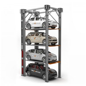 Hydro-Park 3230: Mga Hydraulical Vertical Elevating Quad Stacker Car Parking Platform