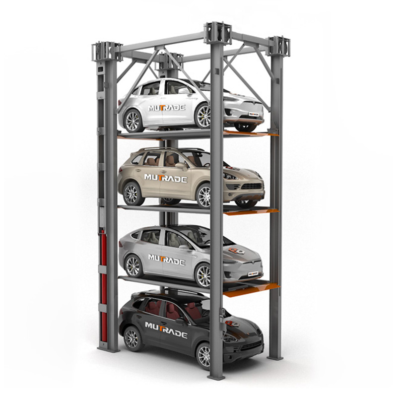 Hydro-Park 3230 : Hydraulic Vertical Elevating Quad Stacker Car Parking Platforms Featured Image