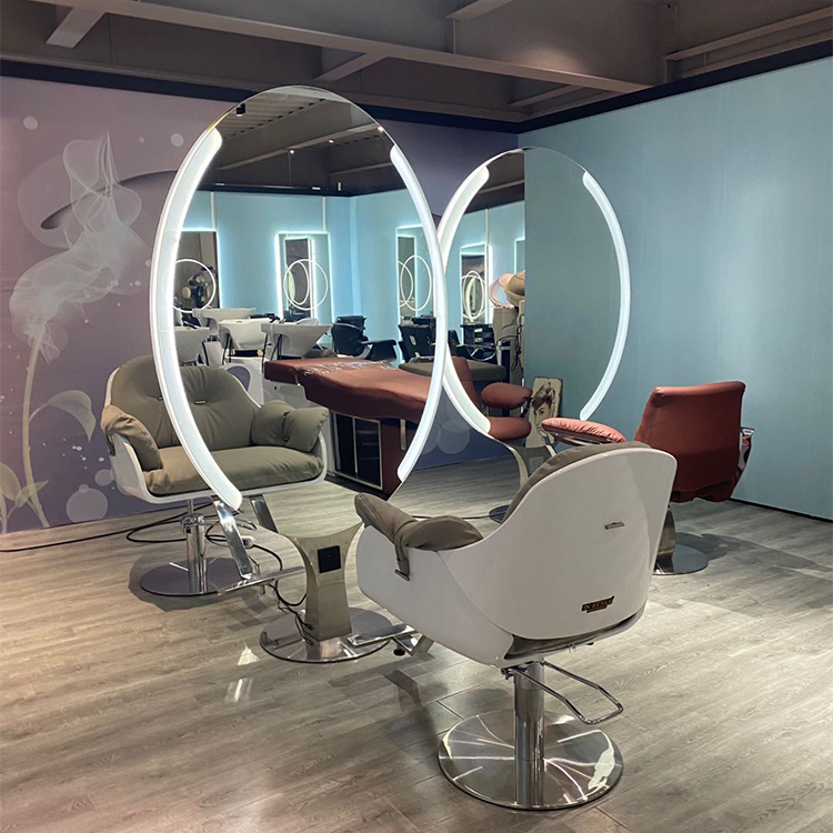 wholesale furniture hair salon styling station luxury makeup mirror with light