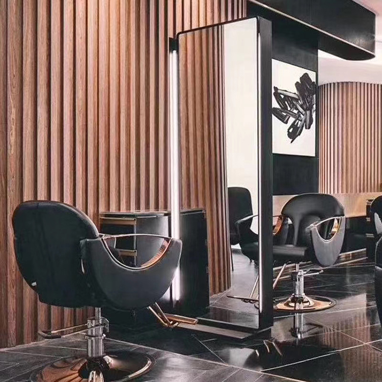 barber shop led salon chair and mirror wall furniture station