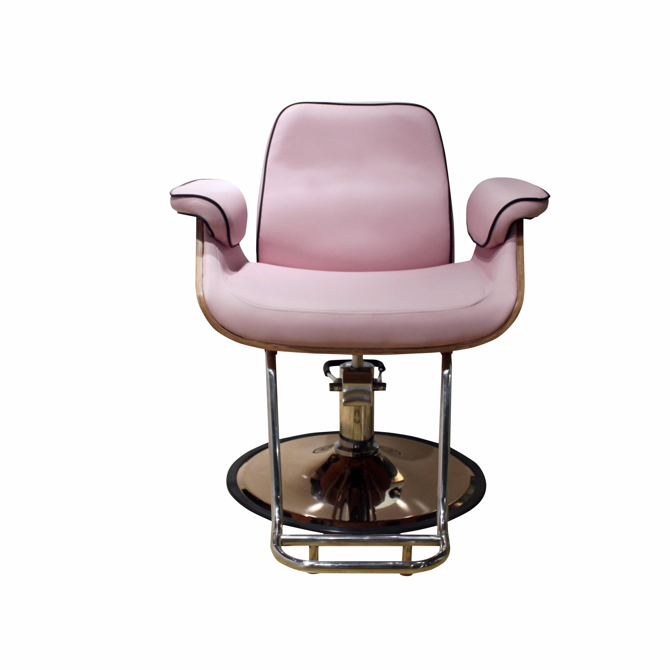 Wholesale modern pink comfortable styling chair for salon and nail shop