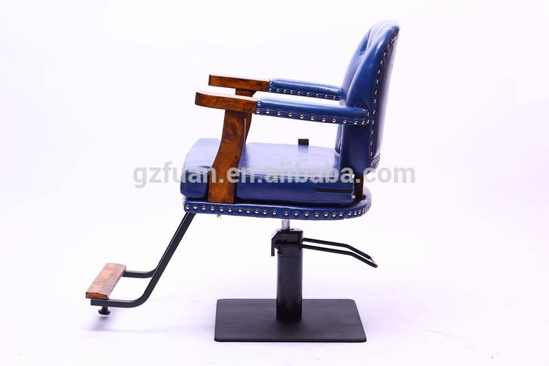 All purpose vintage luxury portable small men's blue salon stylist chair beauty equipment hairdressing styling chair salon