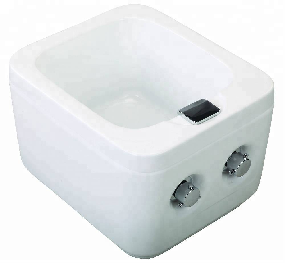 Fiber glass material washing massage spa foot pedicure basin small size wash basin