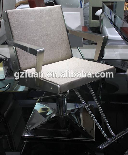 fashionable stainless steel hair styling chair for salon MY-007-85