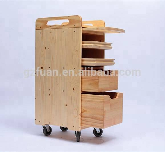 Solid Wood hot sale Wholesale cheap salon trolley for sale