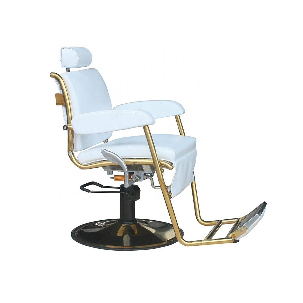Fashionable high quality gold classic hydraulic recline barber shop chairs vintage antique man hair salon chair for sale cheap