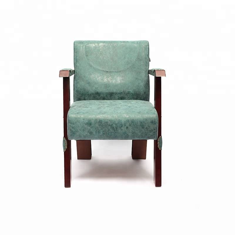 High Quality Comfortable Durable Deep Green Hair Salon Waiting Chair