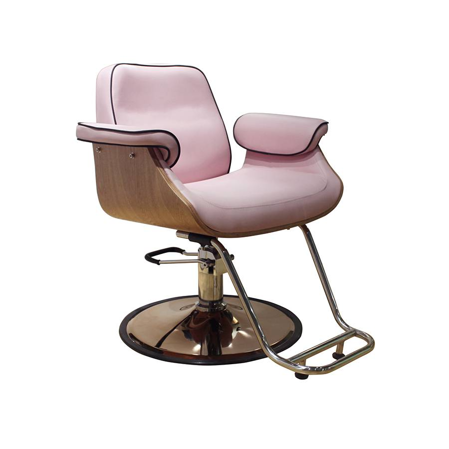 Beauty Nail Salon Spa pink comfortable hair salon barber chair styling chair