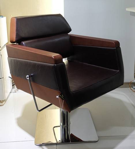 Wooden and synthetic leather armrest hairdressing chair barber chair styling chair for hair salon