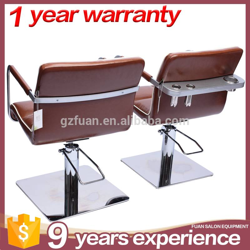 Low MOQ vintage synthetic leather barbershop furniture hairdressing chairs salon styling chair for sale