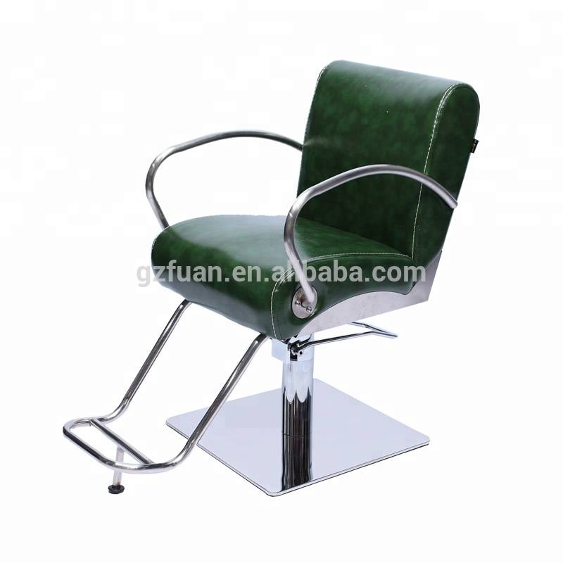 Modern salon barber shop furniture stainless steel armrest hair cutting chairs durable portable barber chair
